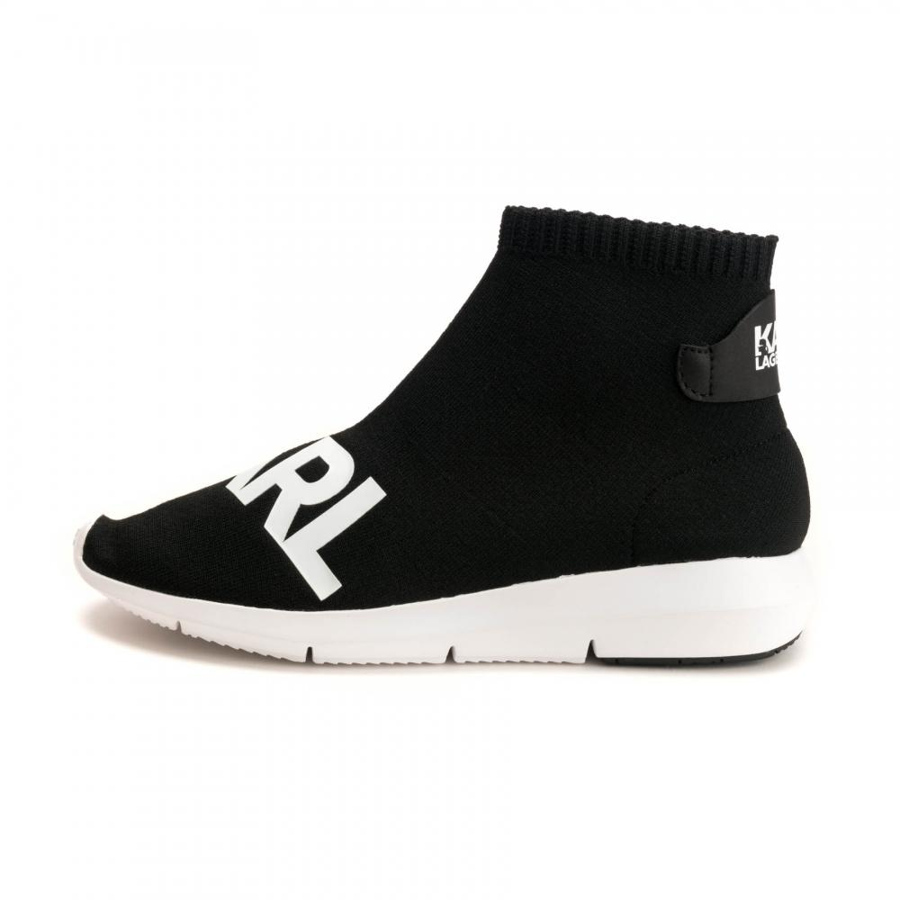 9993c3798289 Karl Lagerfeld - Black Vitesse Knitted Sock Trainers - Lyst. View fullscreen