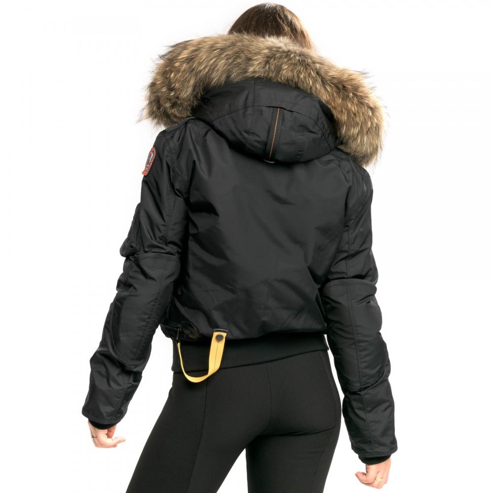 23e2802adc2 Parajumpers - Black Gobi Womens Hooded Bomber Jacket - Lyst. View fullscreen