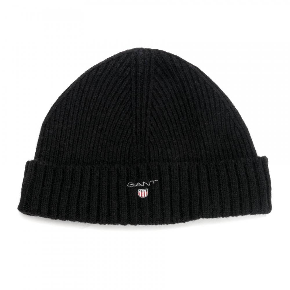 Gant - Black Wool Lined Mens Beanie for Men - Lyst. View fullscreen 34af39b08150