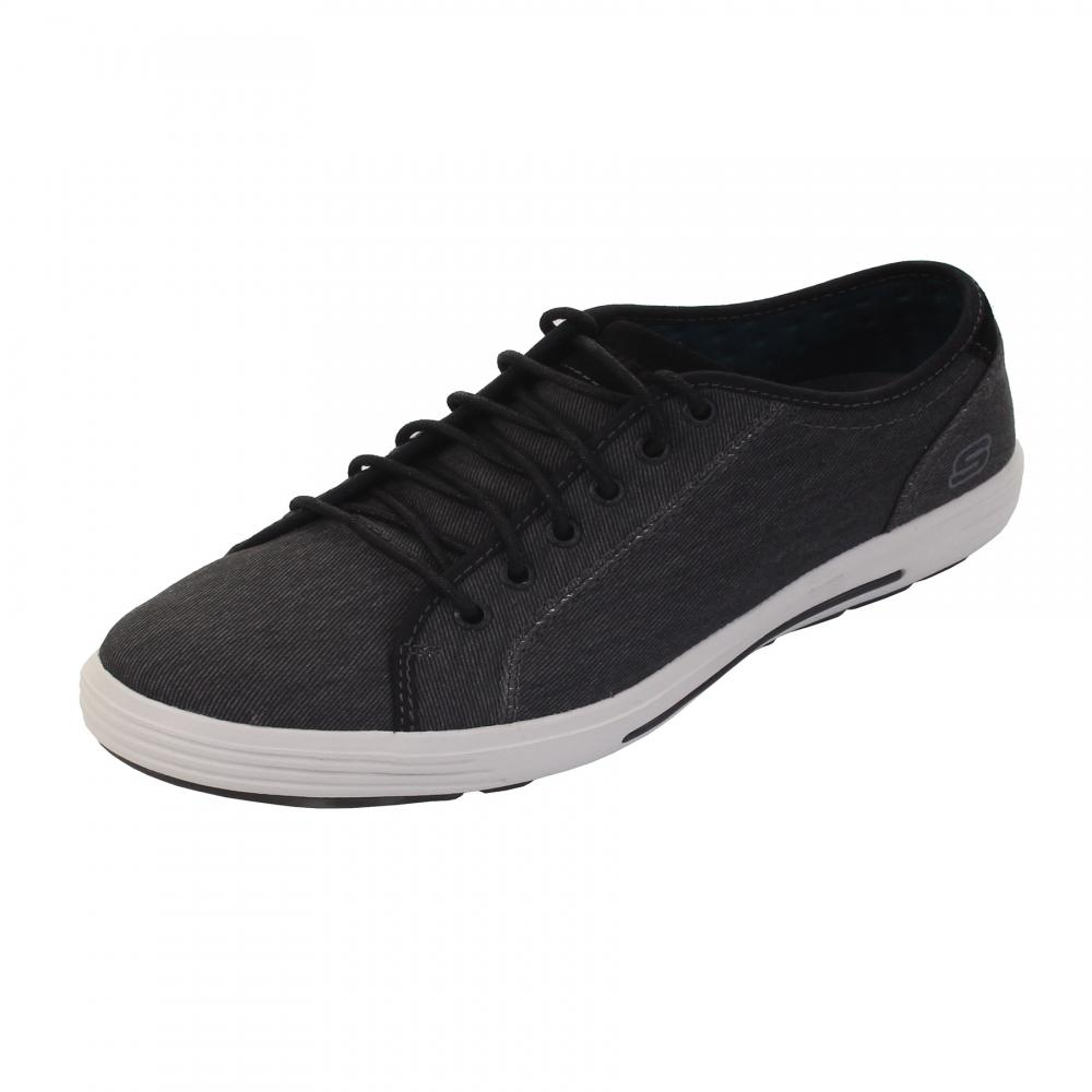 Sketchers Balck Men Padded Oxford Shoes