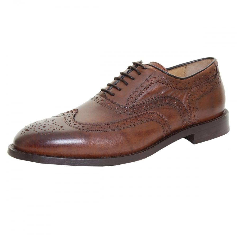 H by Hudson. Brown Heyford Mens Brogue Shoe