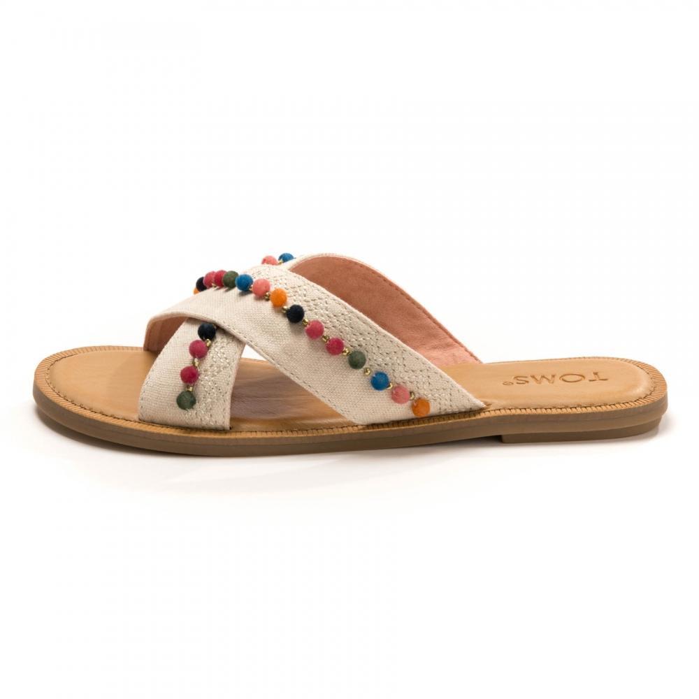 fcd6fe56cf2 TOMS - Multicolor Viv Natural Hemp  Pom Poms Womens Sandal - Lyst. View  fullscreen