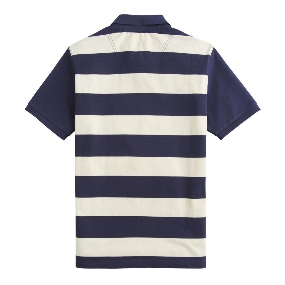 3709ef64a22 Lyst - Joules Fillbert Striped Pique Mens Polo With Plain Sleeves (y ...