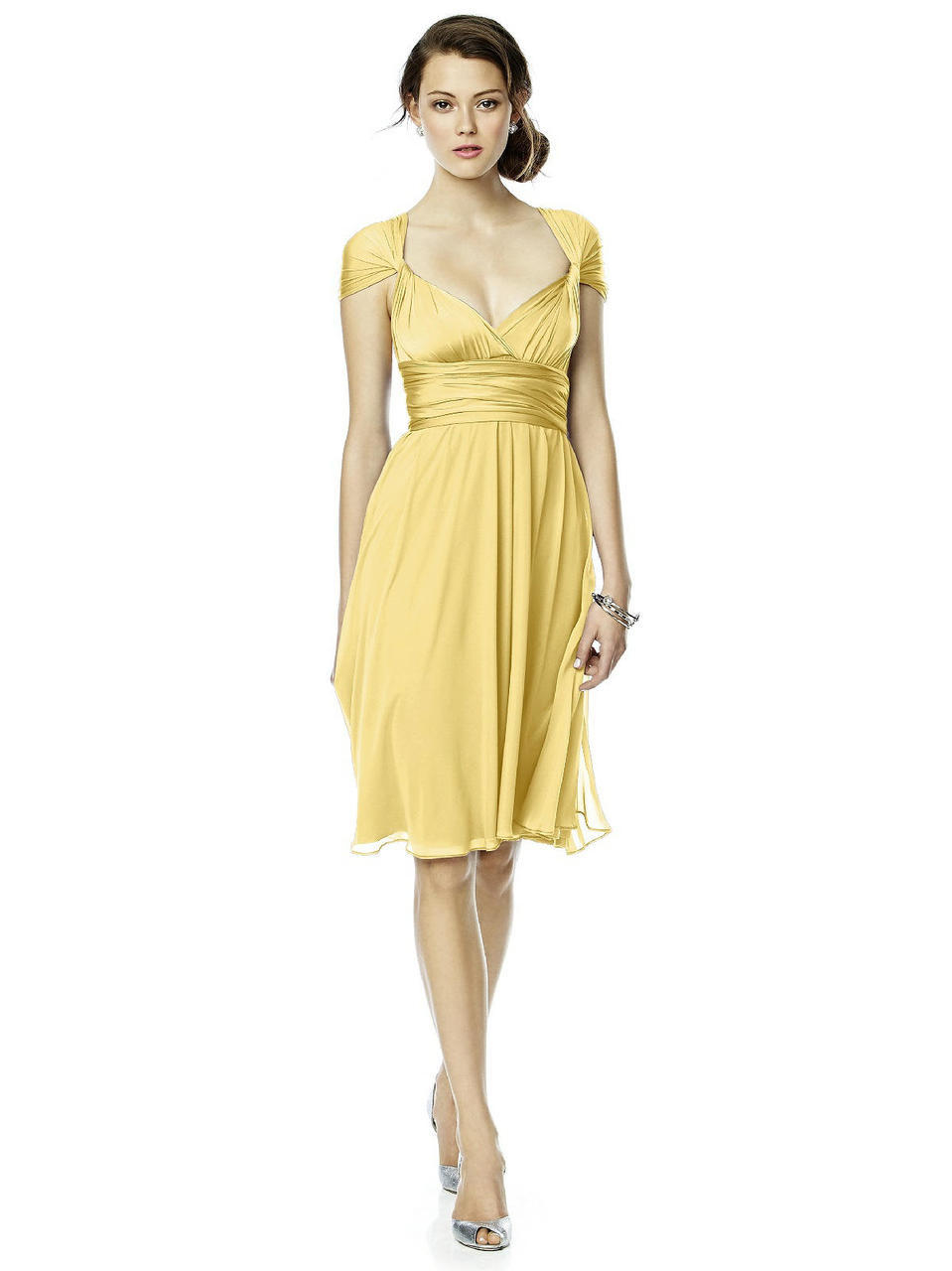 Lyst dessy collection luxtwist dress in buttercup in yellow dessy collection ombrellifo Image collections
