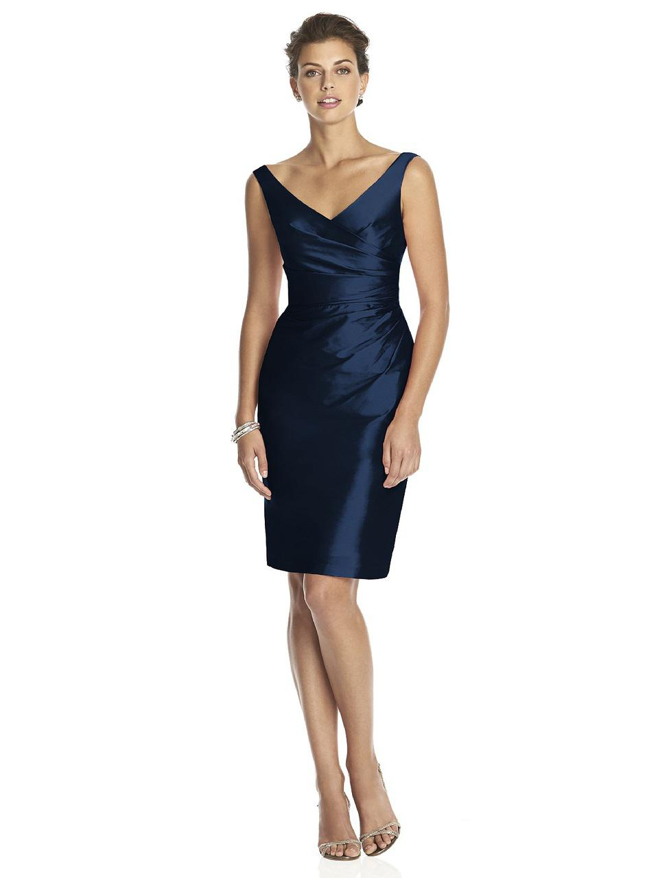 Lyst - Alfred Sung D Bridesmaid Dress In Midnight in Blue - Save 13%