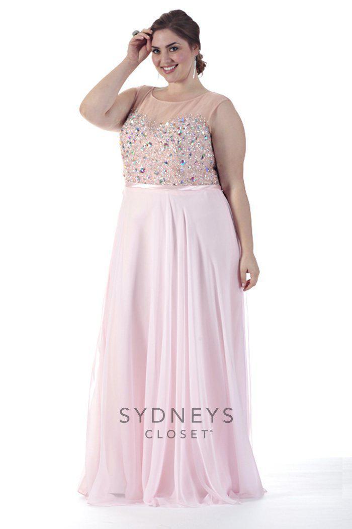 Lyst Sydneys Closet Sc7152 Plus Size Dress In Light Pink In Pink
