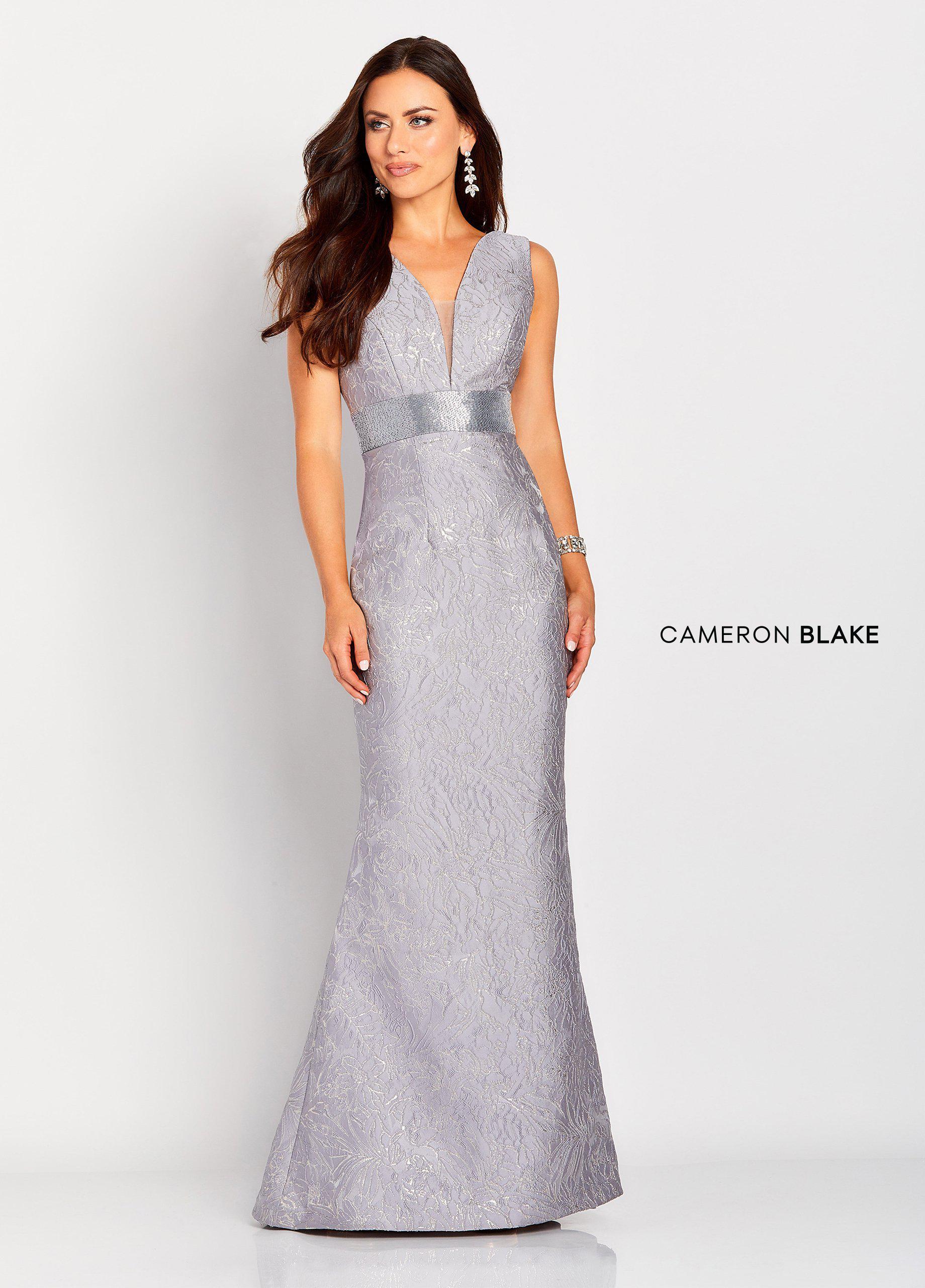 b60be44734 Lyst - Mon Cheri Cameron Blake By - 119669 Plunging Metallic Brocade ...