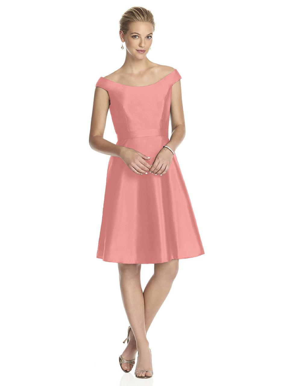 Lyst - Alfred Sung D Bridesmaid Dress In Apricot in Pink - Save 13%