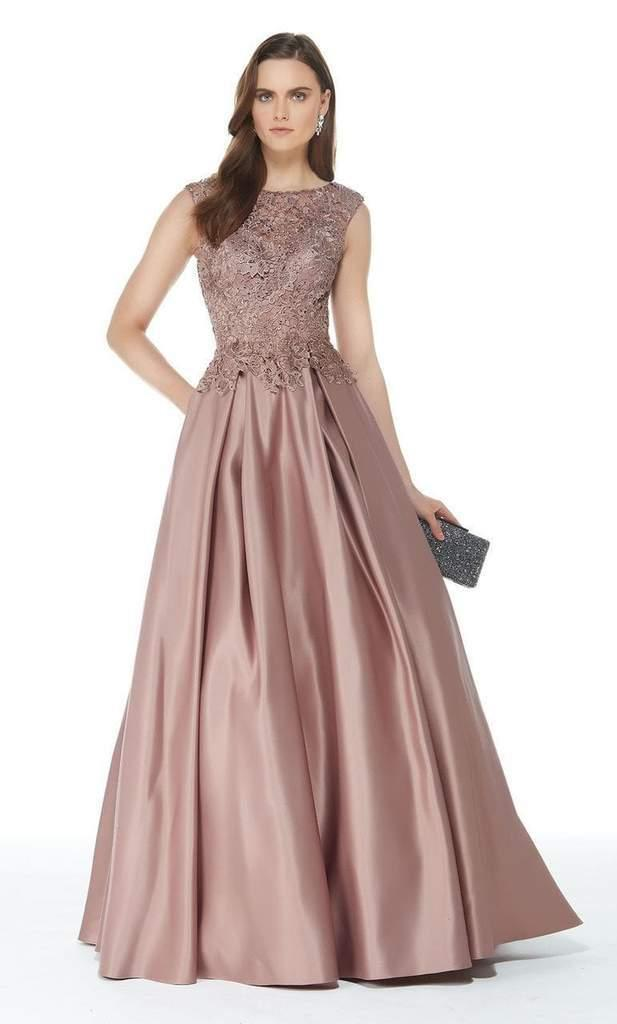 Lyst - Alyce Paris 27010 Beaded Lace Top Satin Pleated Ballgown - 1 ... b1a3865a8