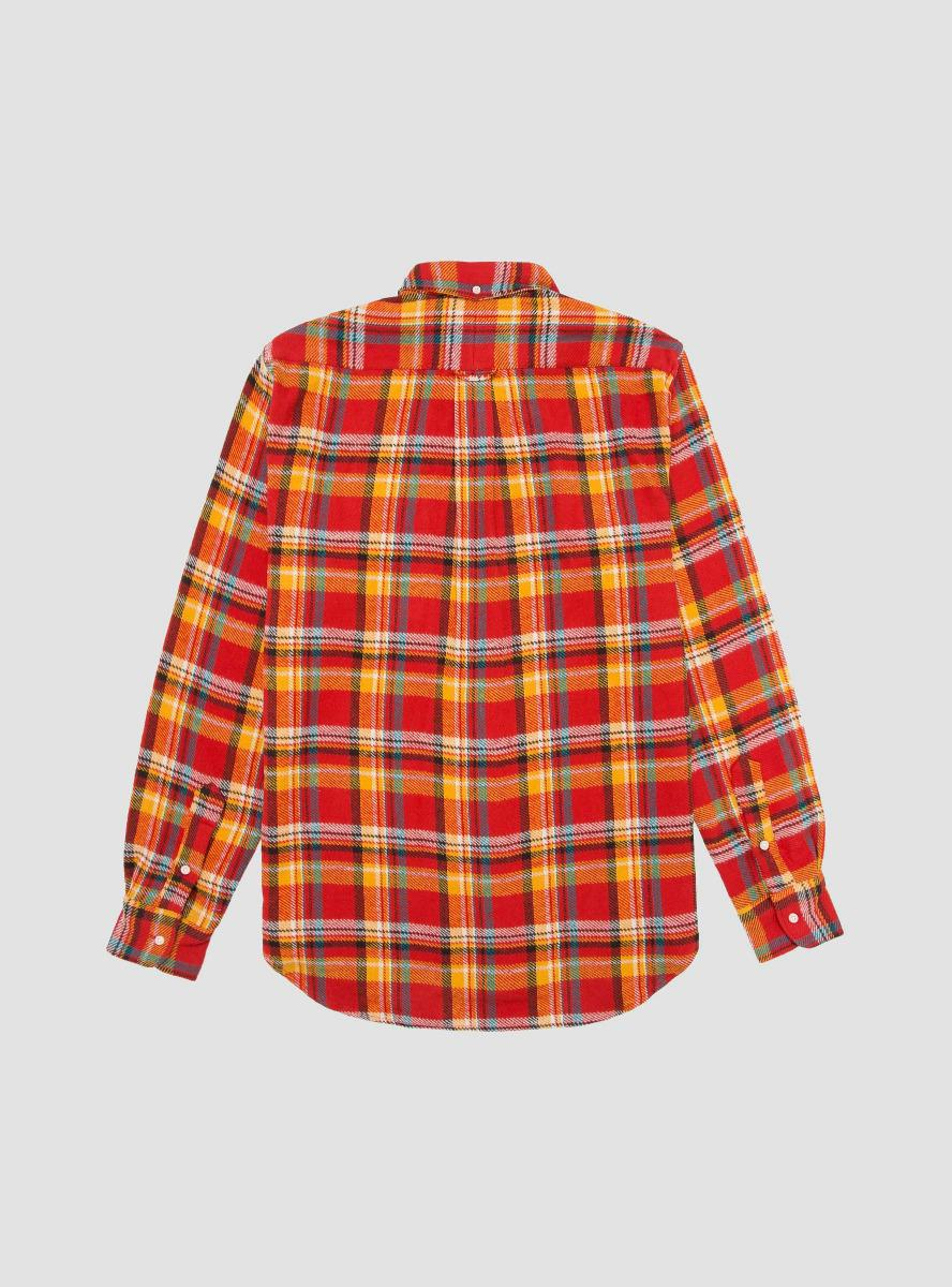 d06b6c7c0a8 Lyst - Gitman Brothers Vintage Utah Triple Yarn Flannel Shirt in Red ...