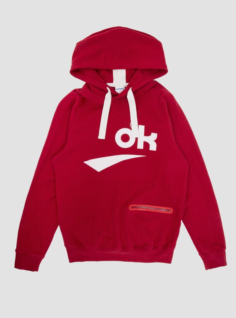 Reebok Ok Hoody Blood Red in Red for Men | Lyst