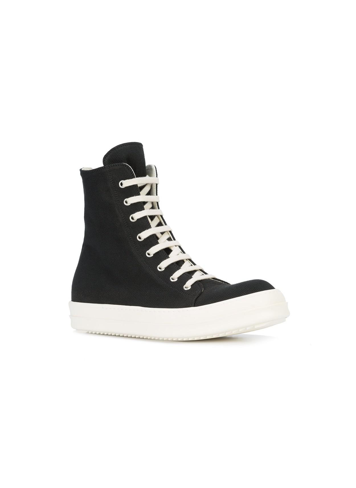 vegan hi-top sneakers - Blue Rick Owens OsJXZagII