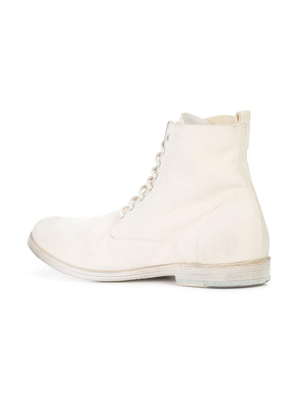 d4230039e46 Lyst - Marsèll Off White Deer Leather Lista Ankle Boot in White
