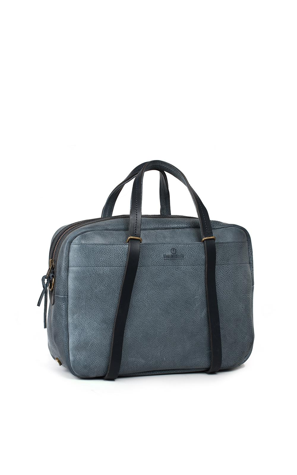 Full-grain Leather Holdall Bleu de Chauffe