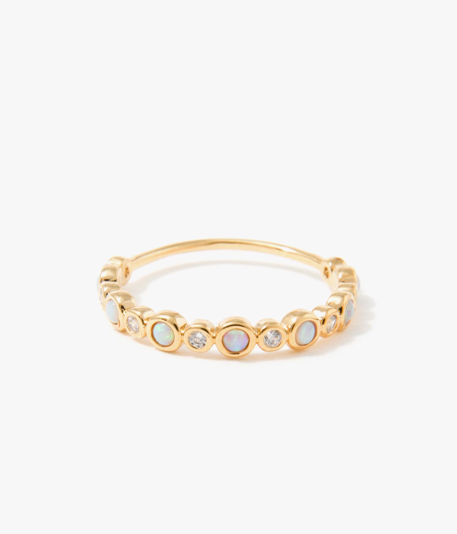 Tai Jewelry 2 Stackable Opal Teardrop Rings Blue 7 UrXJEaNPA