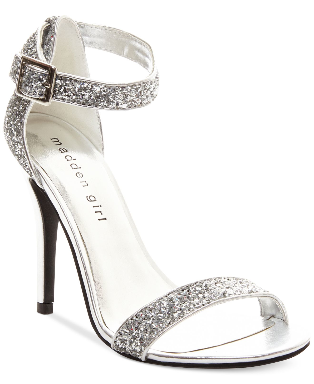Lyst - Madden Girl Dafney Evening Sandals in Metallic
