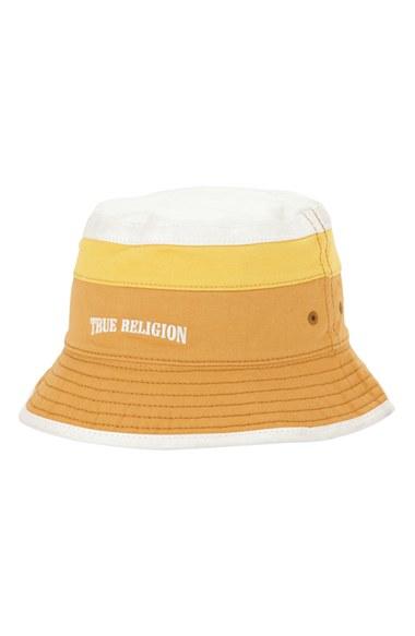 Lyst - True Religion Colorblock Bucket Hat in Yellow for Men 928d639fd7ef