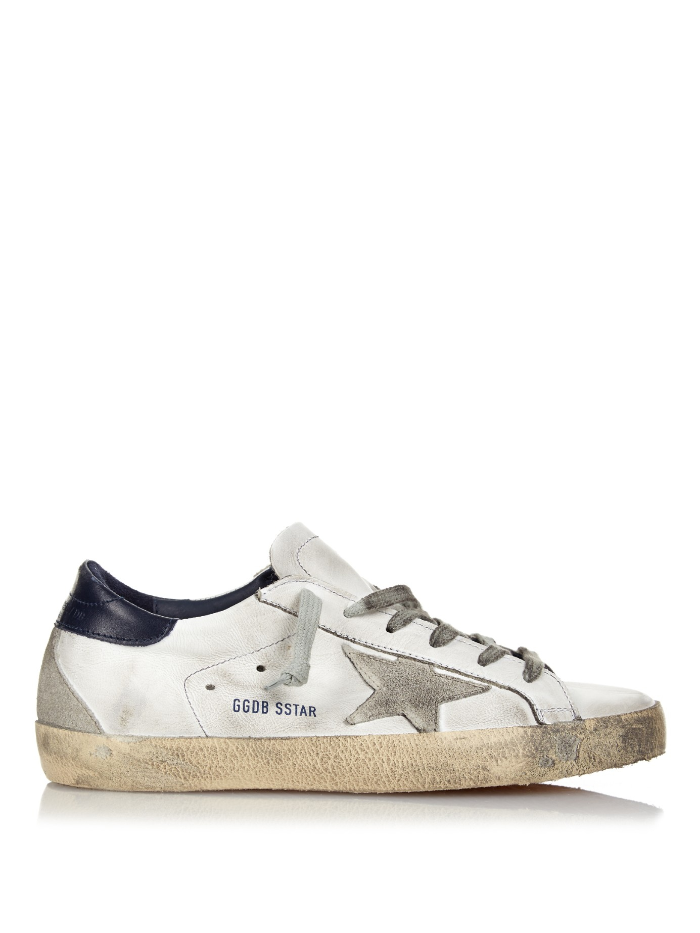 Golden Goose Womens 'Super Star' Sneakers in Gray - Golden Goose Outlet
