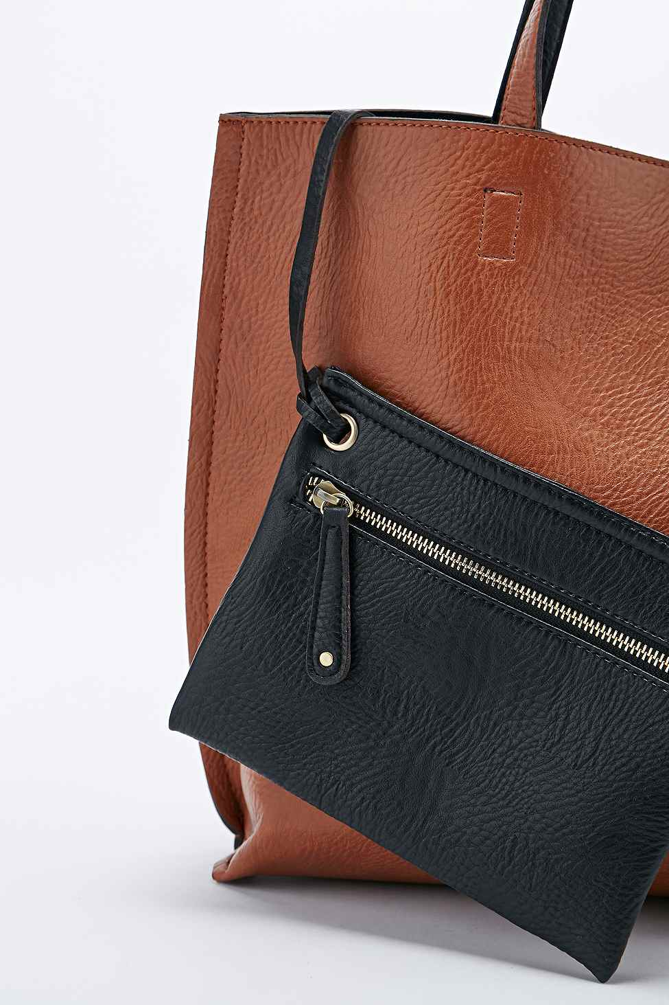 5d2260b1820168 Reversible Leather Tote Bag Brown | Stanford Center for Opportunity ...