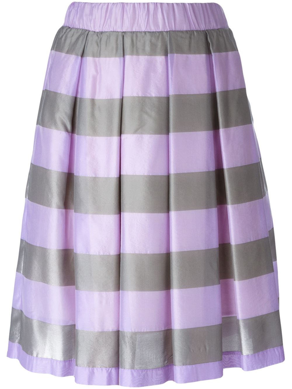 erika cavallini semi couture striped pleated skirt lyst