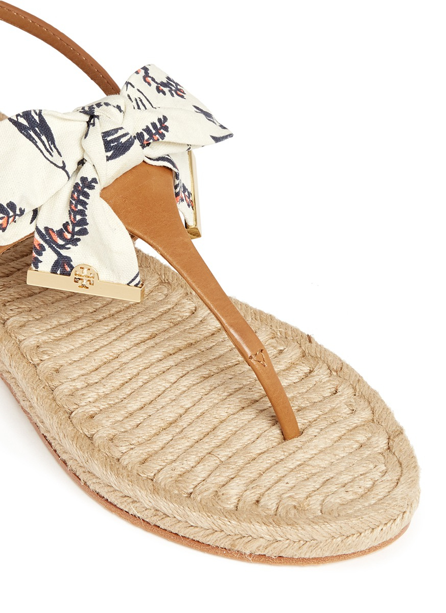 cheap sast discount comfortable Tory Burch Printed Espadrille Sandals o5e63BQa