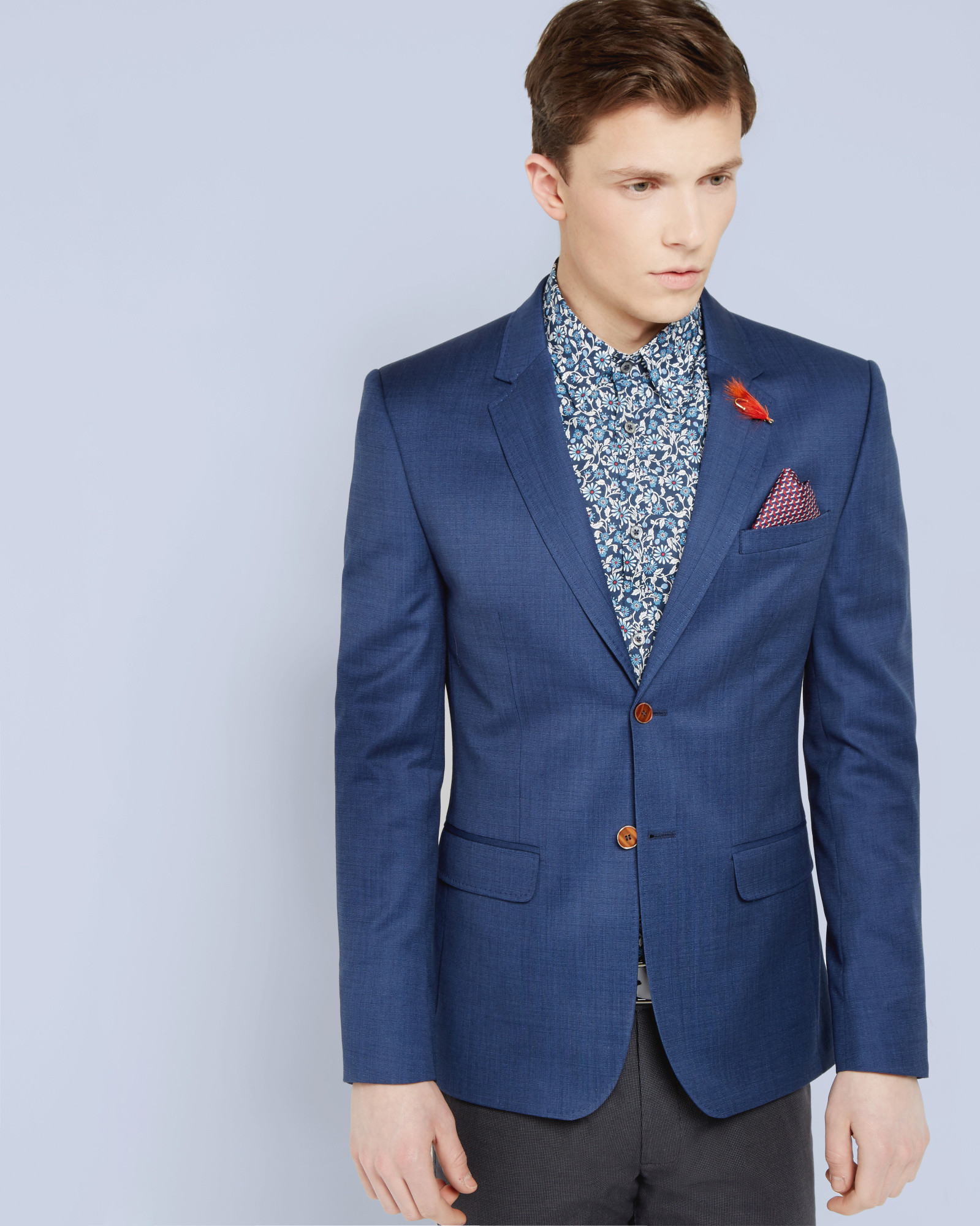 f0b5190ebb571 Lyst - Ted Baker Tight Lines Jacket in Blue for Men