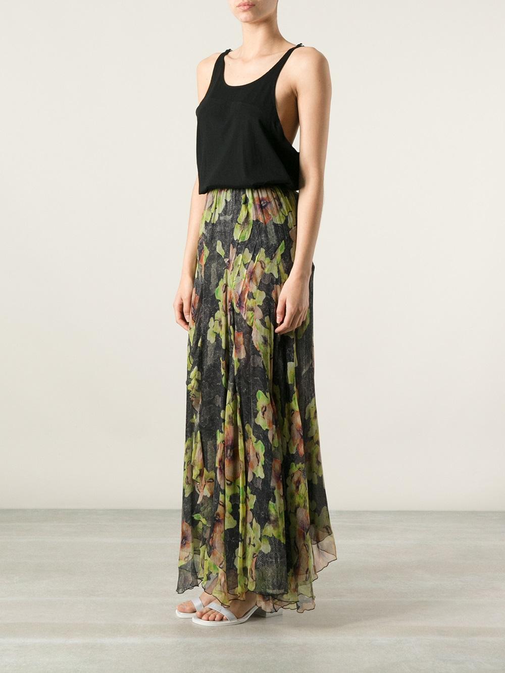 1db142e16d Long Floral Print Maxi Skirt - Data Dynamic AG