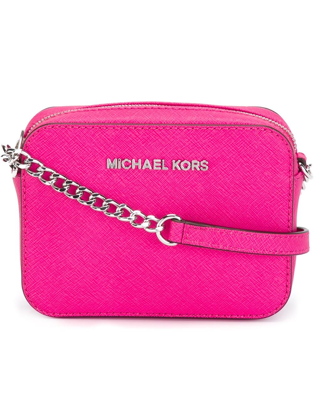 485c89c36d29 ... greece lyst michael michael kors jet set travel mini cross body bag in  pink 797a5 abd2b