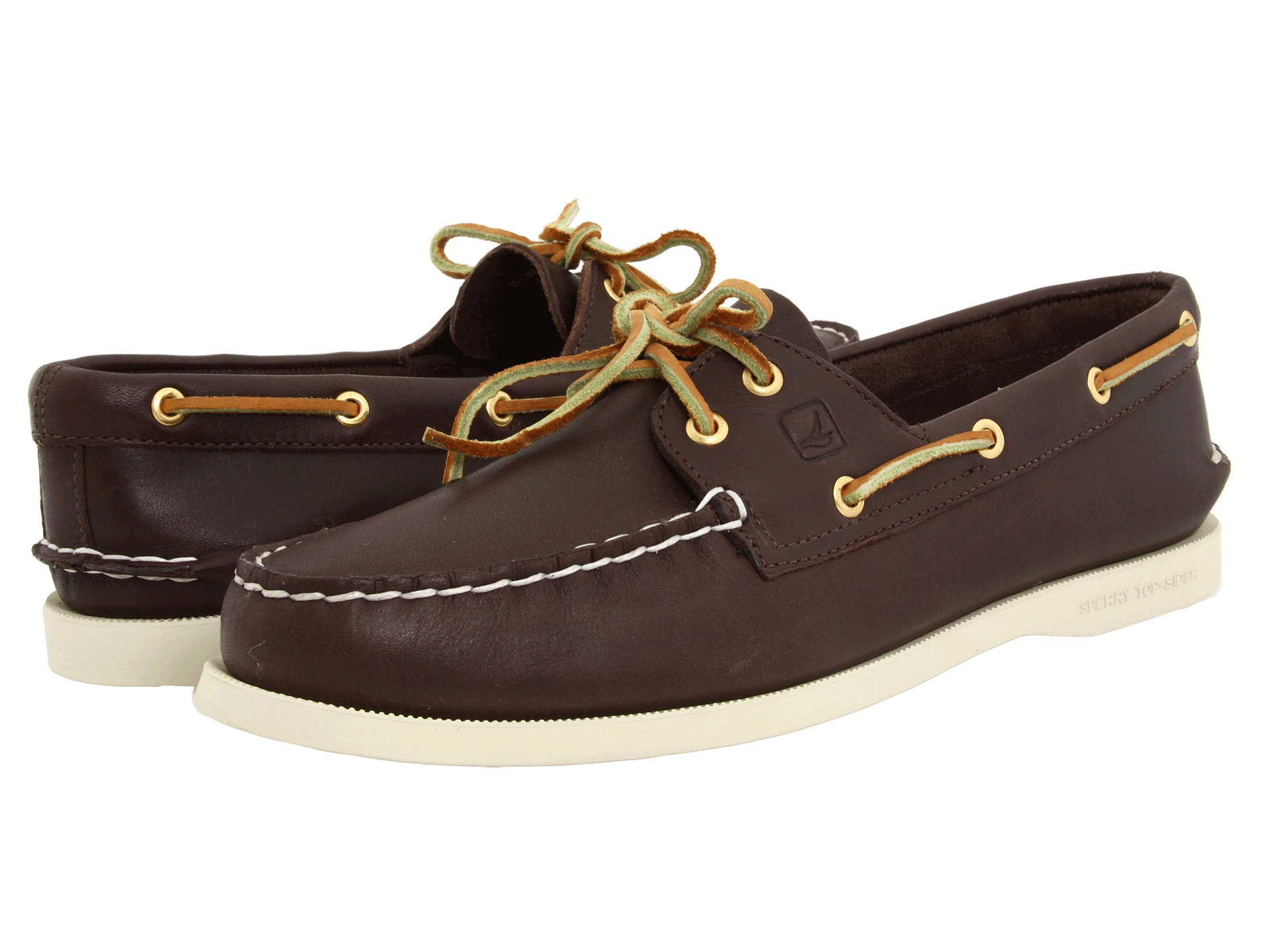 sperry top sider a o 2 eye in brown lyst