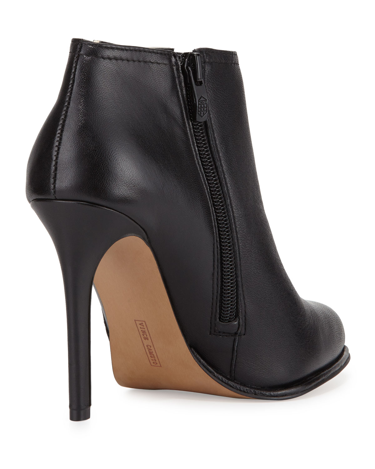 7cb69a04f Vince Camuto Leanna Leather High-heel Bootie in Black - Lyst