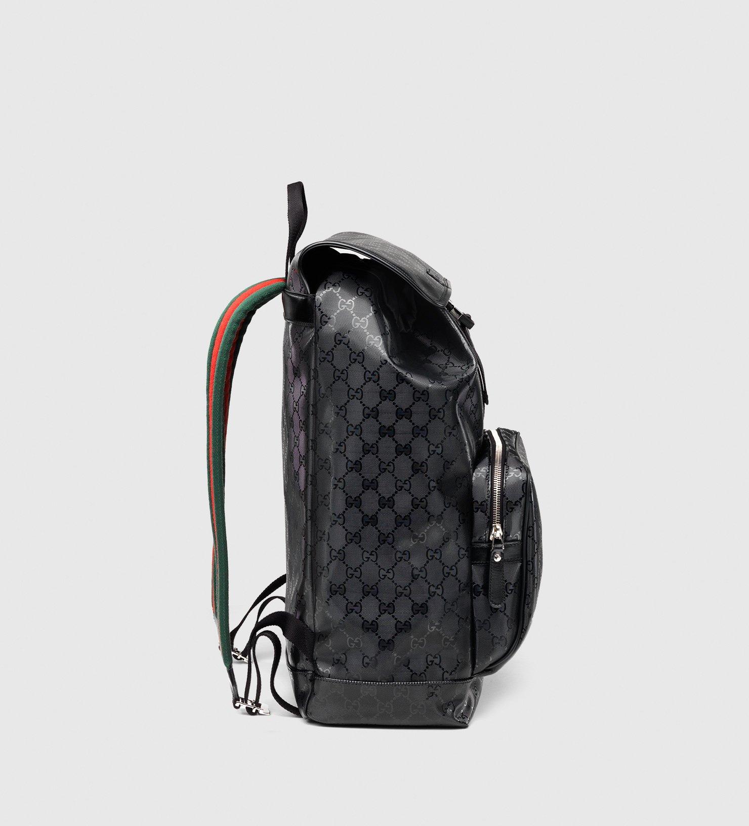 Lyst - Gucci 500 By Gg Imprimé Backpack in Black de24dc29d3