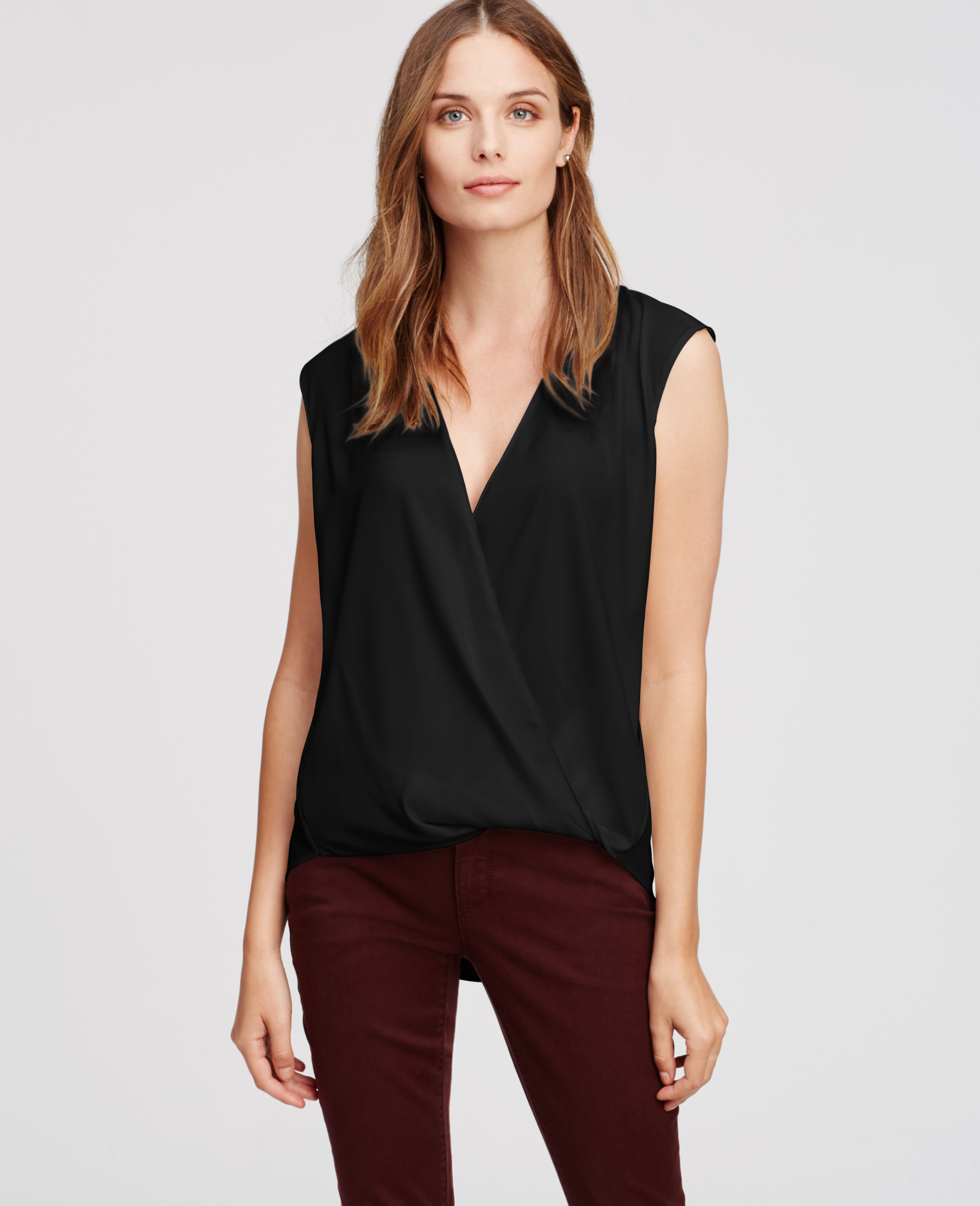 White Wrap Blouse River Island