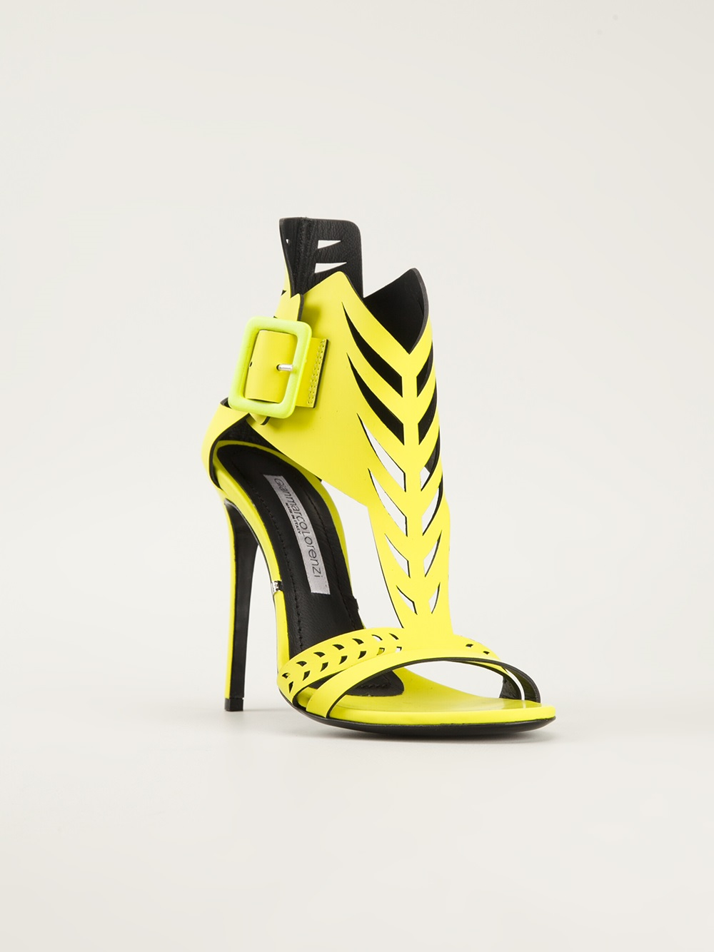 Yellow Sandals High Heels
