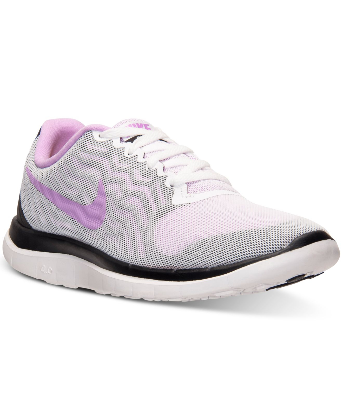 best cheap 7cb2d 6e45f Lyst - Nike Women s Free 4.0 V5 Running Sneakers From Finish Line in ...