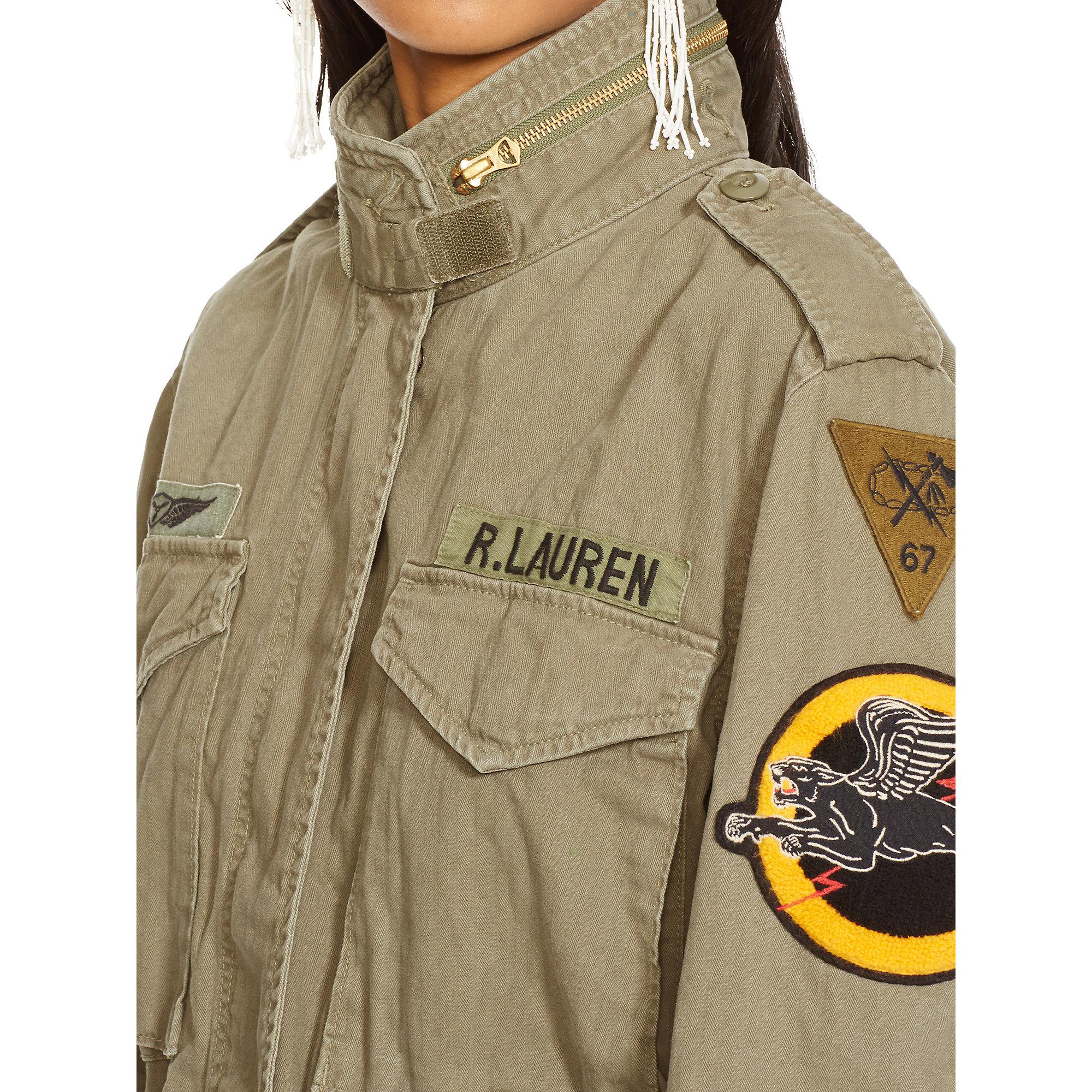 Lyst - Denim U0026 Supply Ralph Lauren Military Patches Field Jacket In Green