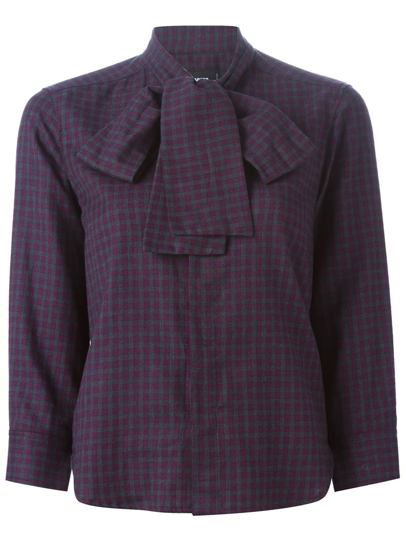 Lyst Dsquared Checked Shirt In Purple