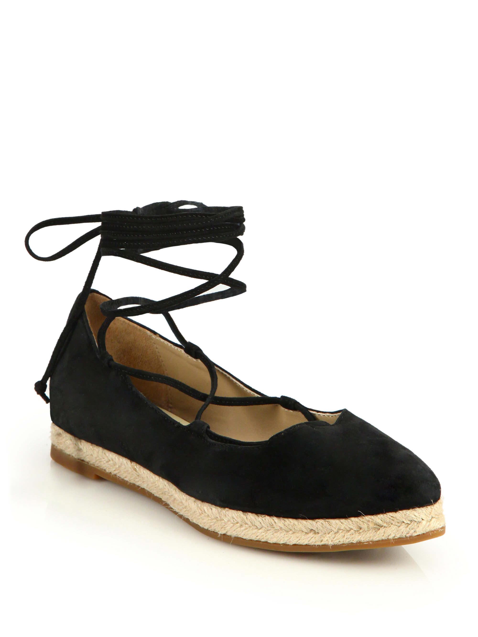 6a64eddd43ed Gallery. Previously sold at  Saks Fifth Avenue · Women s Lace Up Flats ...