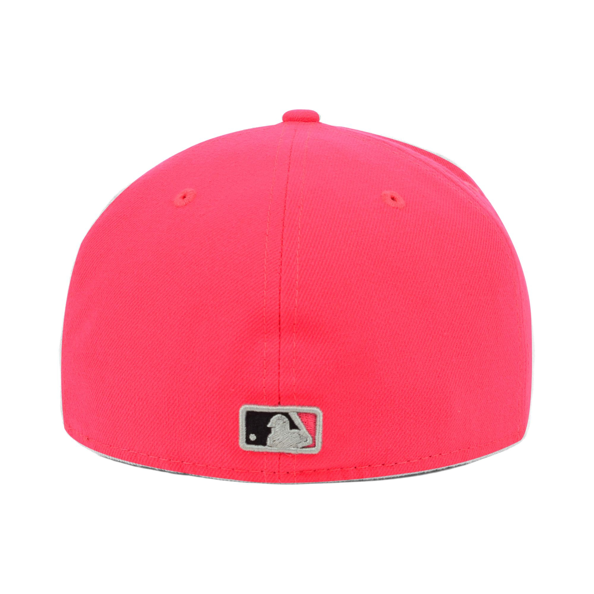 dcb87c3226b ... low cost lyst ktz miami marlins mlb amplify 59fifty cap in red for men  a6e37 11f04
