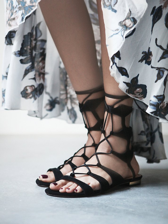 Lyst Schutz Lina Lace Up Sandals In Black