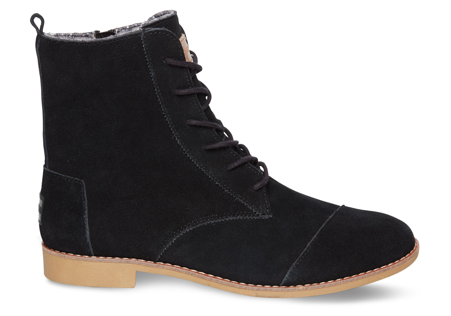 toms black suede s alpa boots in black lyst