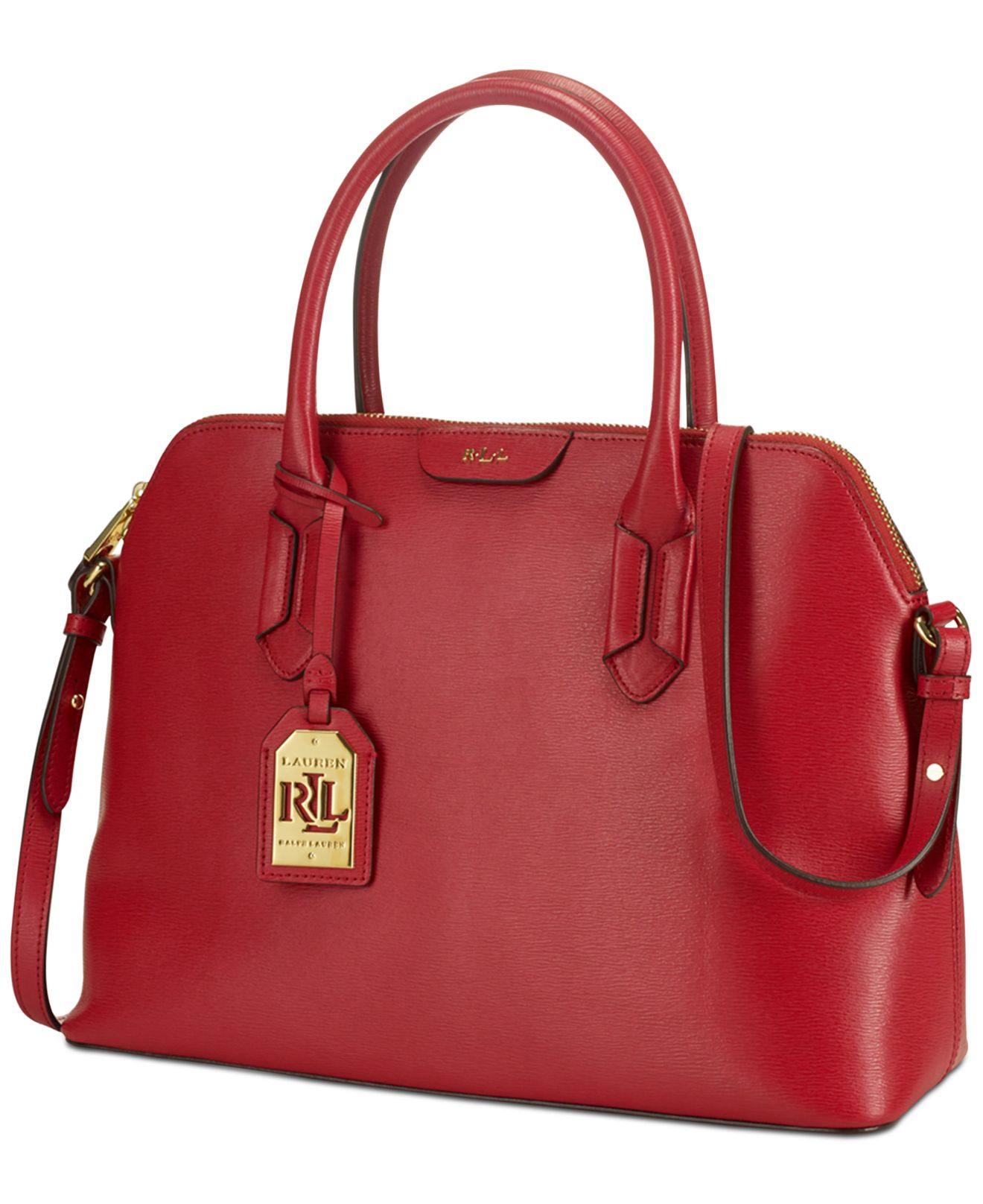 Ralph Lauren Tate Dome Satchel Laukku : Lauren by ralph tate dome satchel in red cocoa