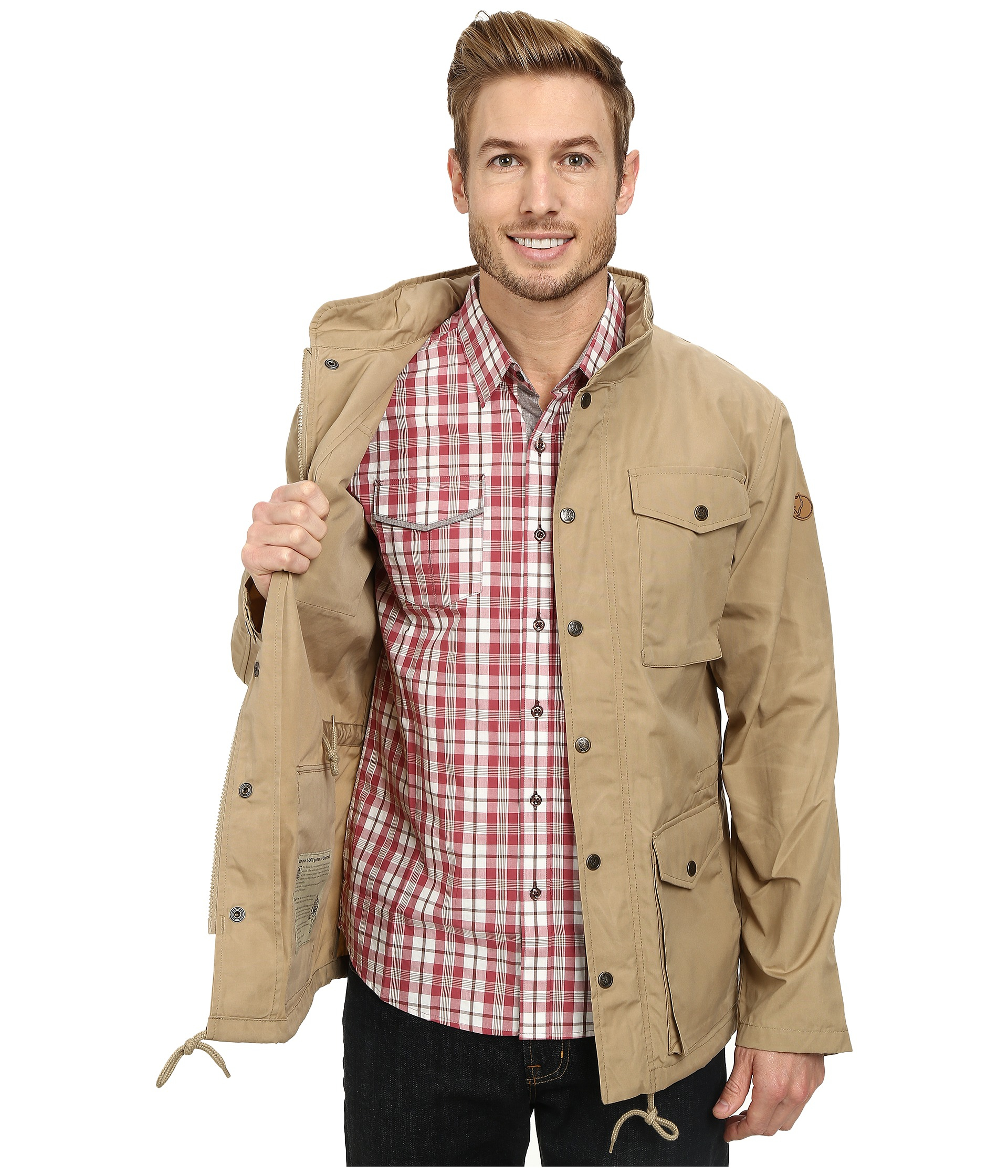 Fjallraven Raven Jacket in Natural for Men | Lyst