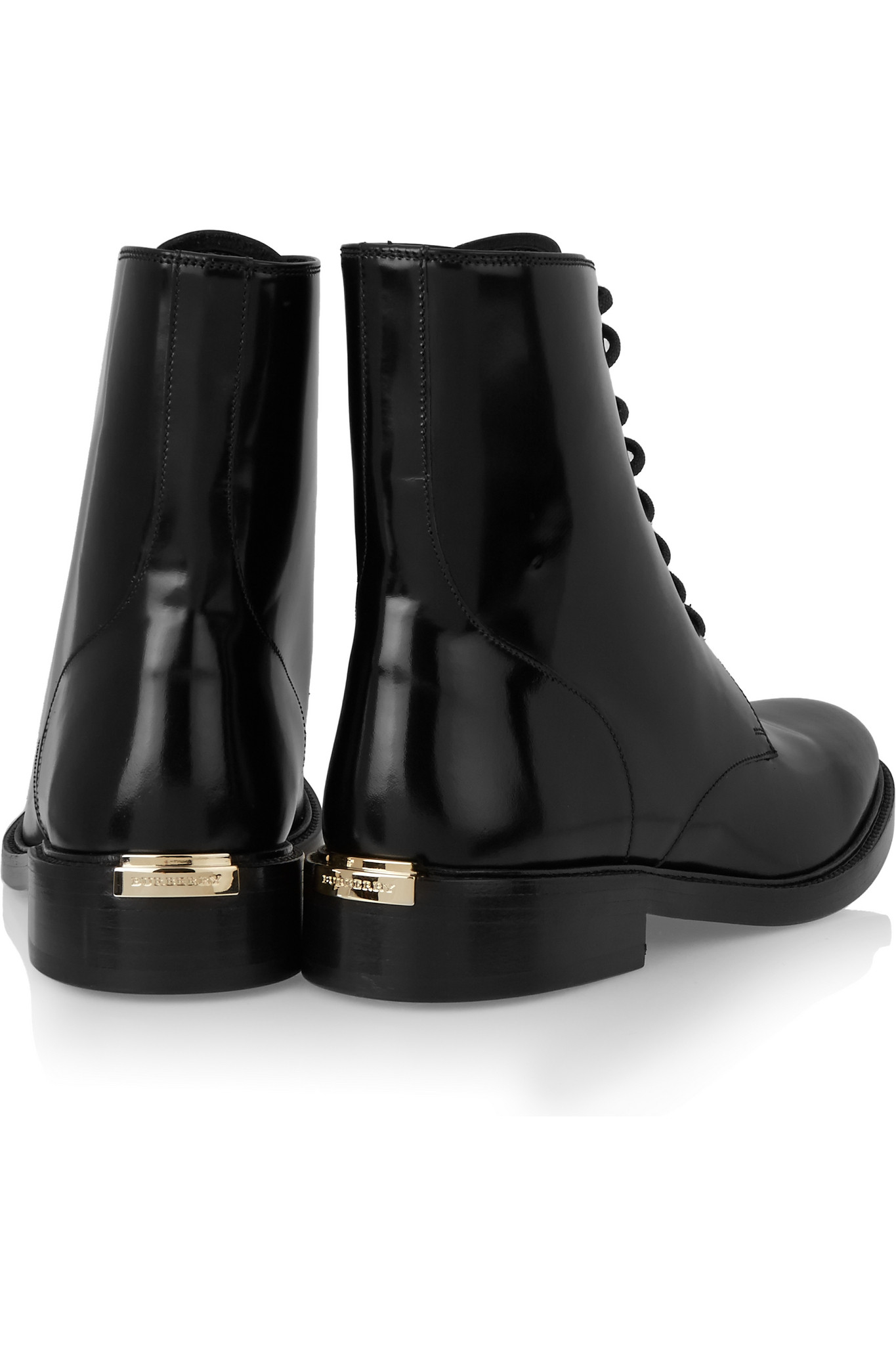 Burberry Black Leather Ankle Boots Gv3hwbB4I