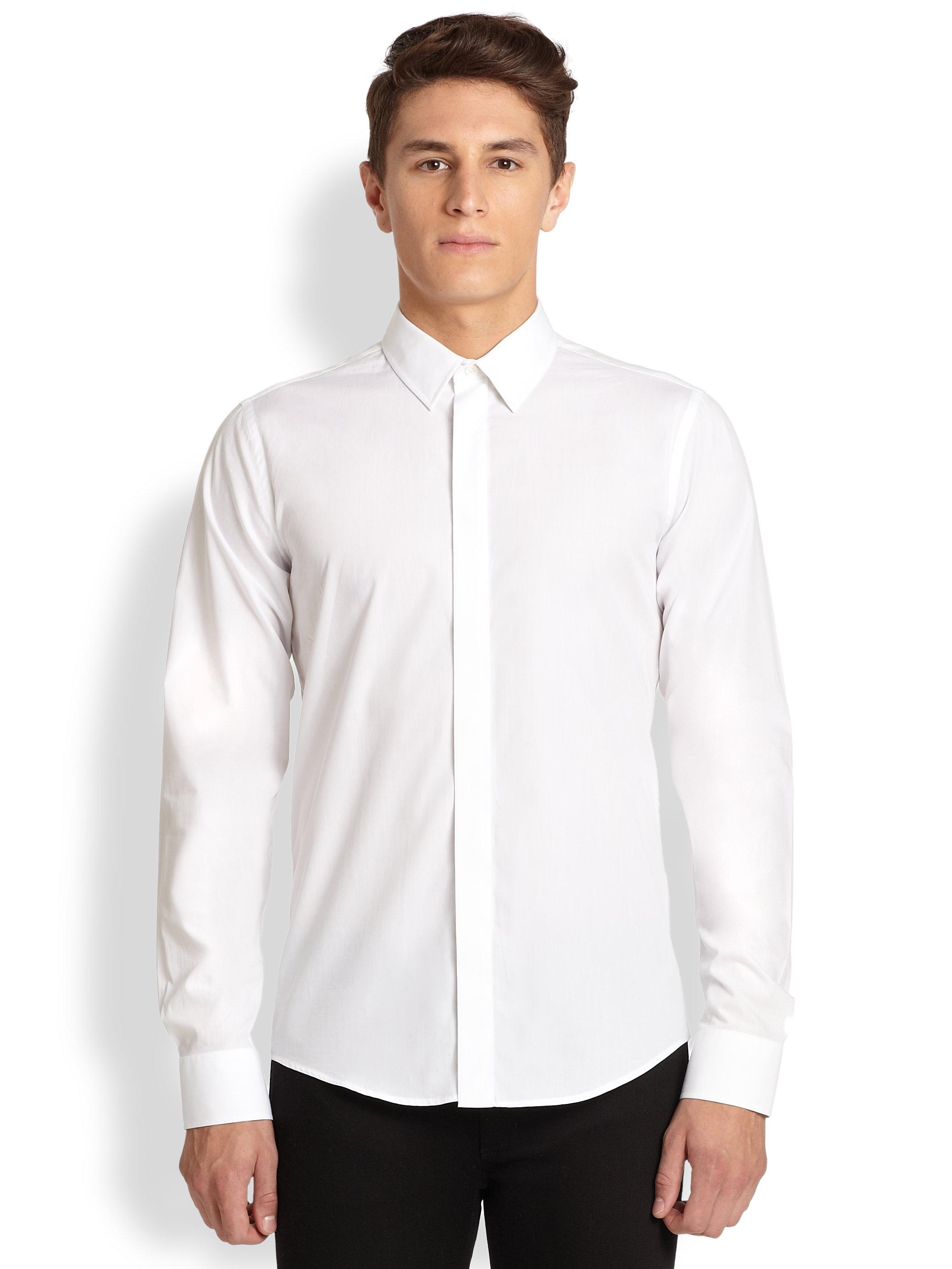 Acne Viktor Poplin Button Down Shirt In Black For Men Lyst