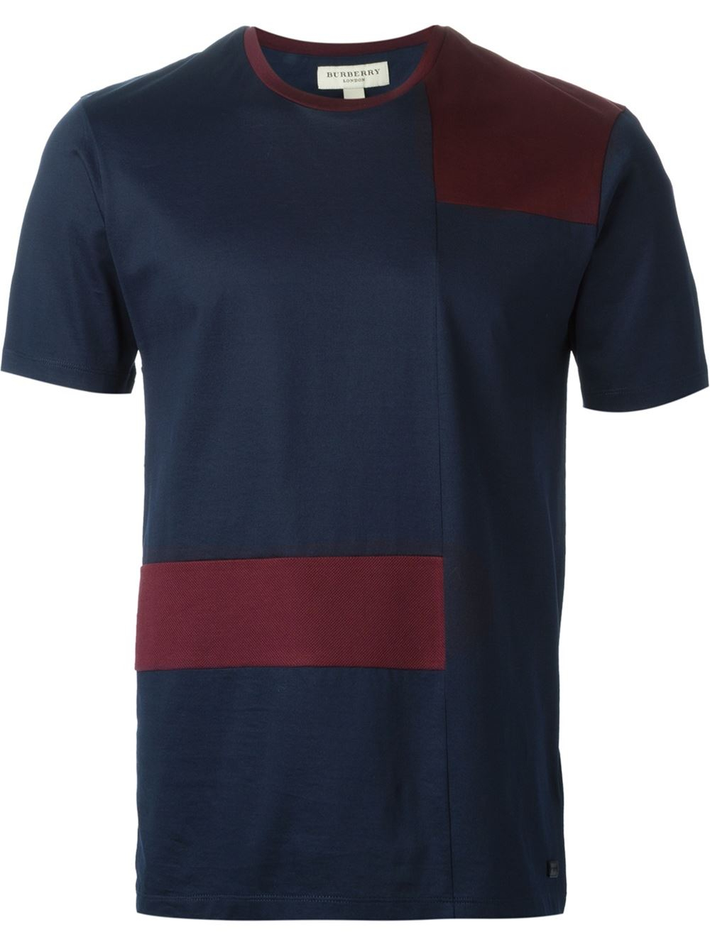 burberry london 39 cunningham 39 t shirt in blue for men lyst