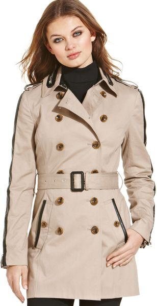 W118 By Walter Baker Ollie Trench Coat in Khaki - Lyst