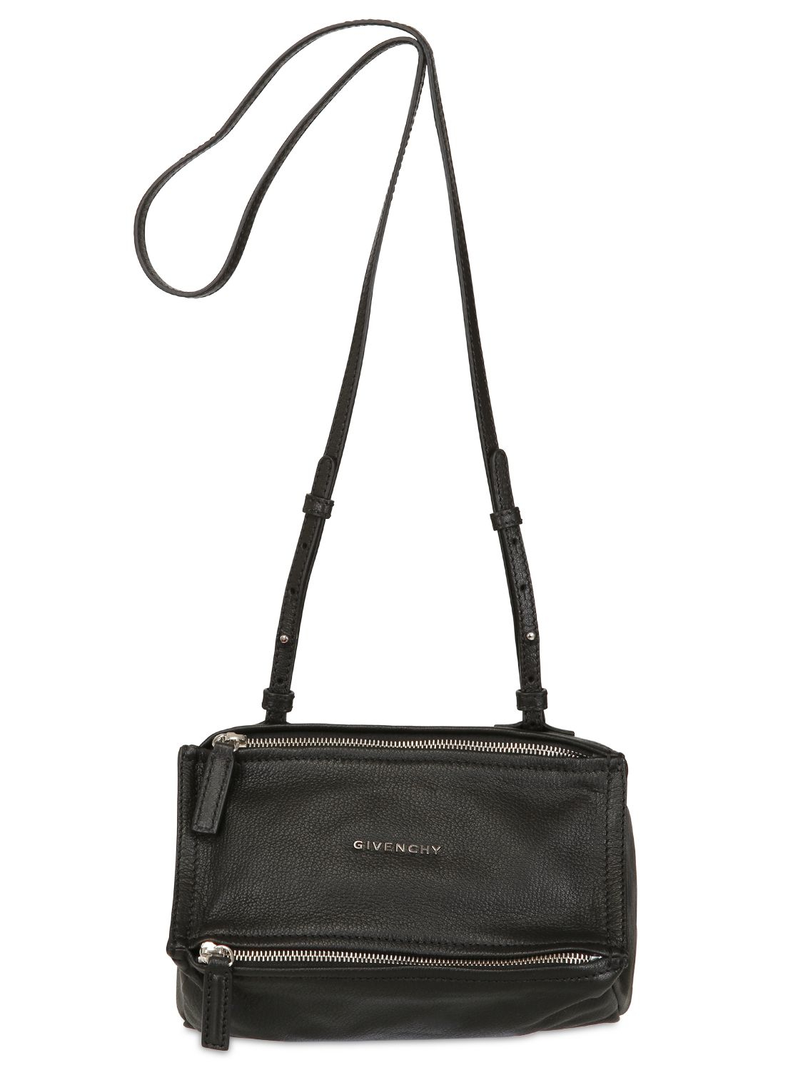 Givenchy Mini Bags. Givenchy Mini Pandora Leather Shoulder Bag in Black  6645a27276461