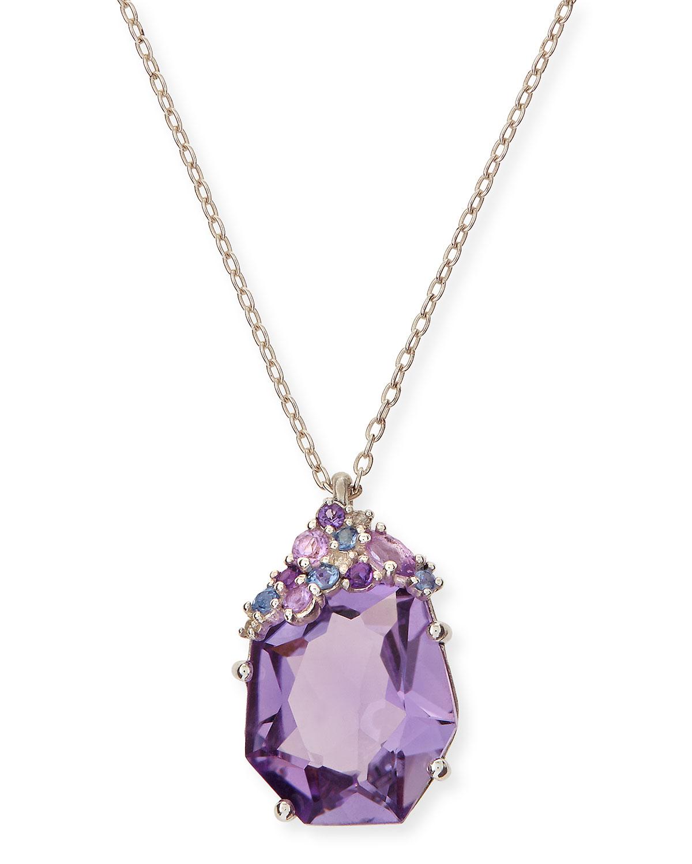 bittar velvet marquise small amethyst pendant