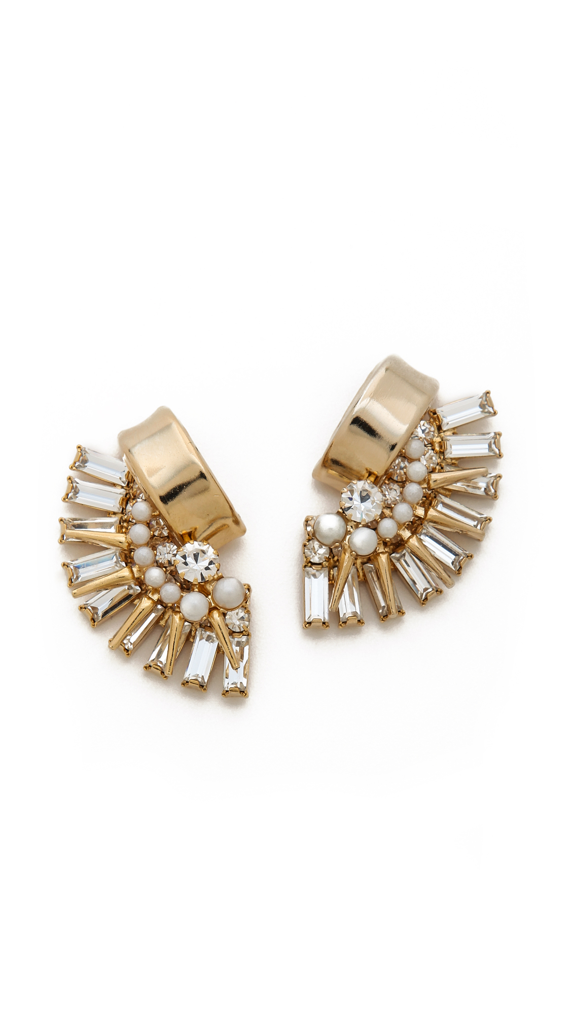 Elizabeth Cole Crescent Ring in Metallic Gold 4INoE