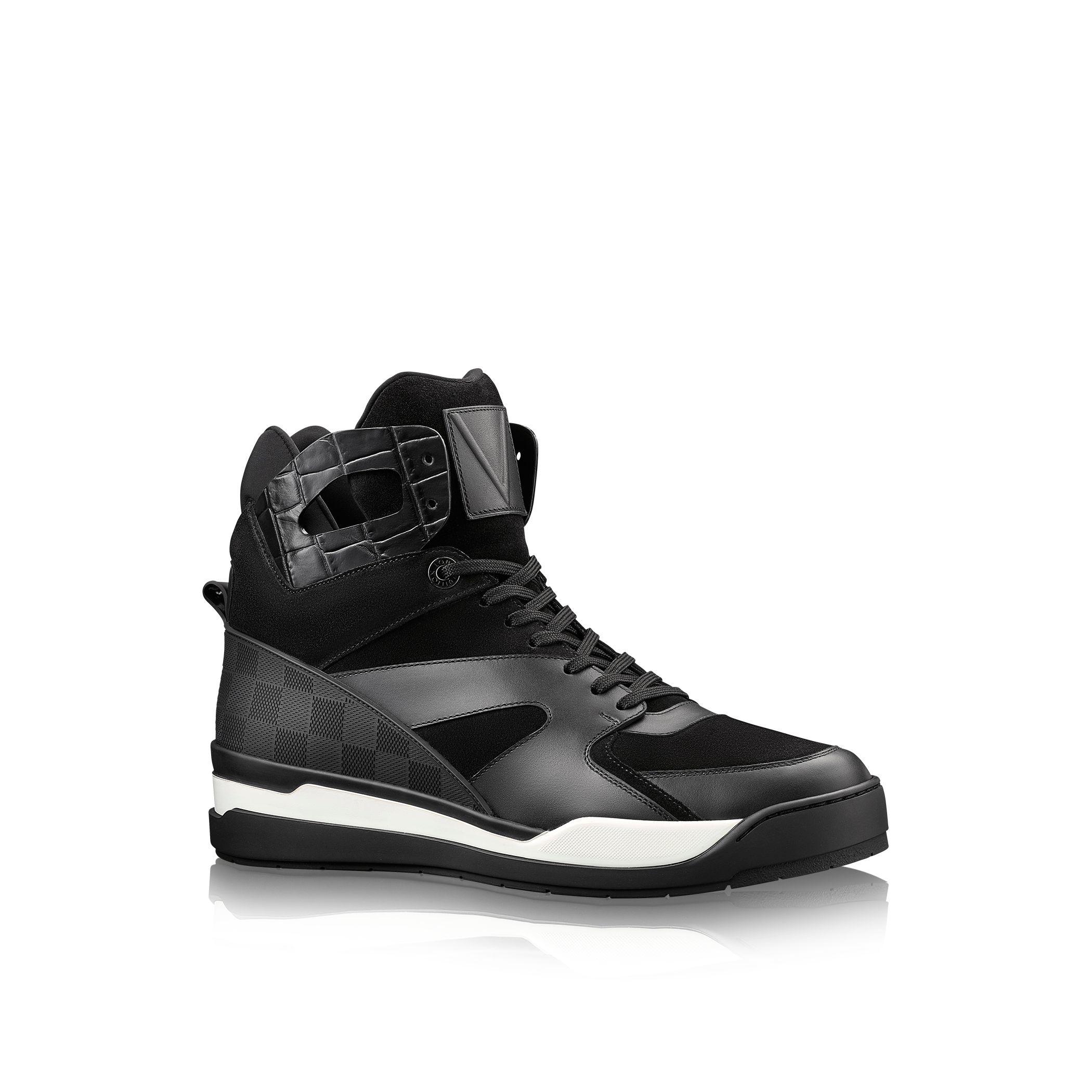 Louis vuitton Kick-off Sneaker Boot in Black for Men | Lyst